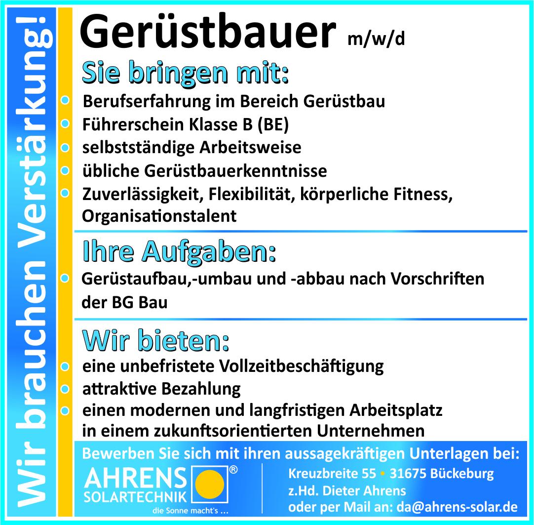 Gerüstbauer (m/w/d)
